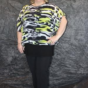 shirt Doris Streigh zwart/geel
