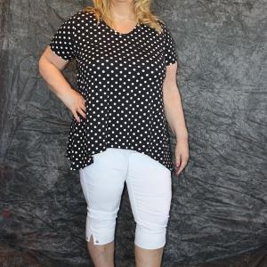 shirt Pontneuf witte polkadot