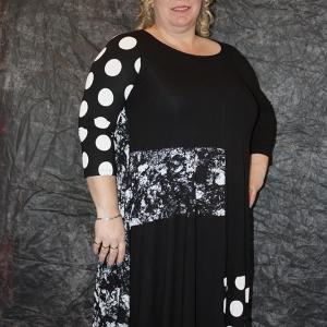 jurk Alenbika zwart/wit